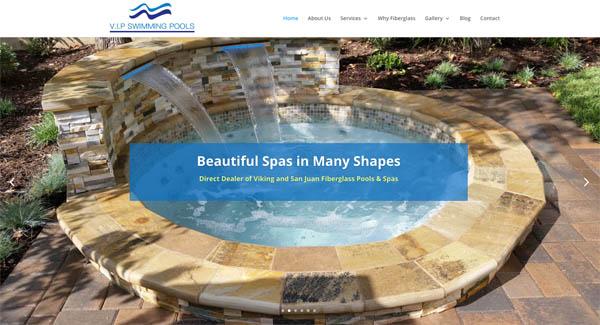 Portfolio website designer company comtek website design for Pool design orange county